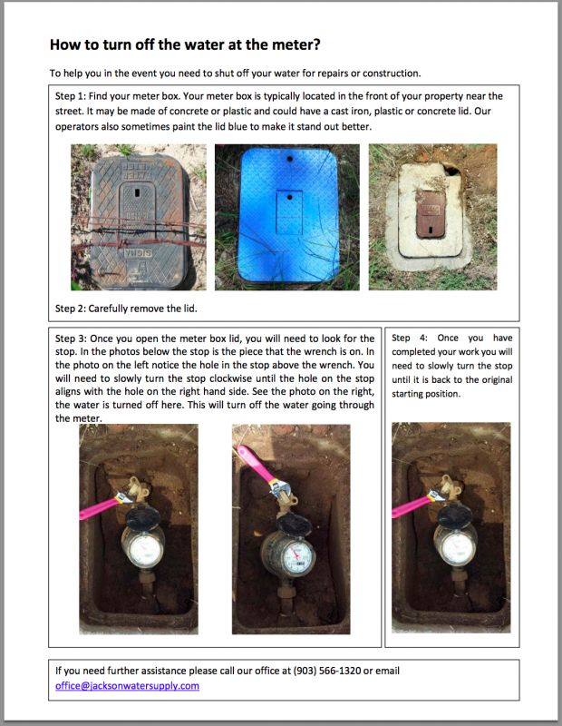 How To Turn Off Your Water Meter